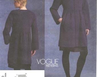 Vogue Pattern 1130 DKNY Coat 6 8 10 12 2009