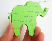 """50 Elephants Die cuts Size 2.50"""" x 3"""" In Non-textured or Textured Cardstock paper"""