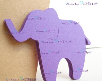 """30 Elephants Die cuts Size 2.50"""" x 3"""" -Paper Elephant tags -Zoo Animal Labels -Cardstock Elephants Labels -Cardstock tags -Paper Label"""
