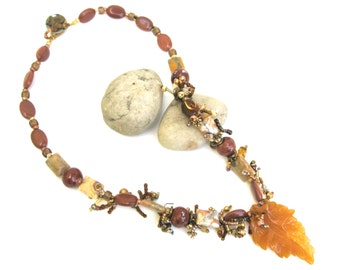hand made artisan natural stone necklace