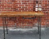 SALE - Reclaimed Antique Heart Pine Bar Console Table -  Free Delivery in NYC area