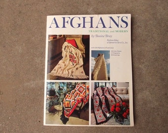 Vintage Pattern Book Afghans Traditional and Modern Bonita Bray 36 Afghans in Full Color GORGEOUS