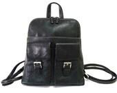 Vintage Backpack Black Genuine Leather Organizer Hobo Satchel Backpack
