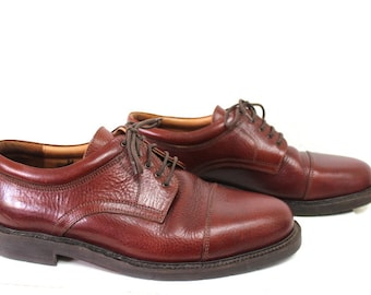 Vintage Shoes Johnston & Murphy Passport Lace Oxfords Made in Italy Men 9.5M