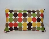 Dwell Studio Multi Color Dot Indoor Outdoor Lumbar Pillow Cover In 2 Sizes