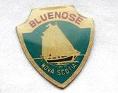 3 Vintage 1960s Enameled Brass Bluenose Charms // Canadian Souvenir // Nova Scotia