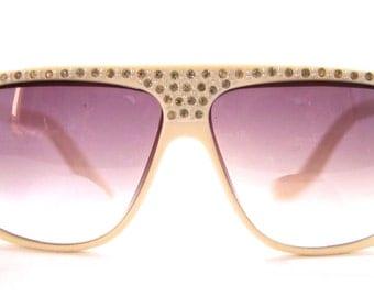 1980s Rhinestone Sunglasses / Eyeglasses Anne Marie Perris 8802