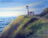 Northhead lighthouse painting