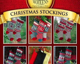 Annie's Woolens Digital e-Book Christmas Stockings Knitting Pattern Collection