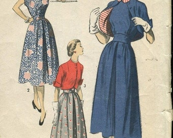 Advance pattern 5723- Vintage 1950s  2 piece dress Pattern