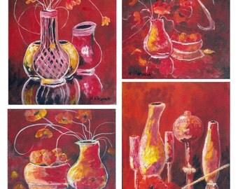 Still Life Mosaic - Original Acrylic Painting