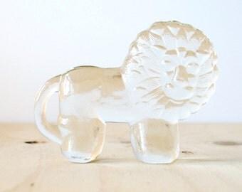 Kosta Boda Small Lion by Erik Hoglund Glass Figurine Swedish Design Paperweight