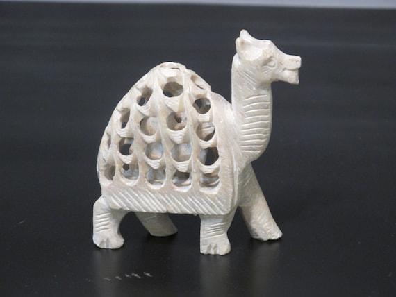 Vintage carved camel with baby inside by milkacervenka