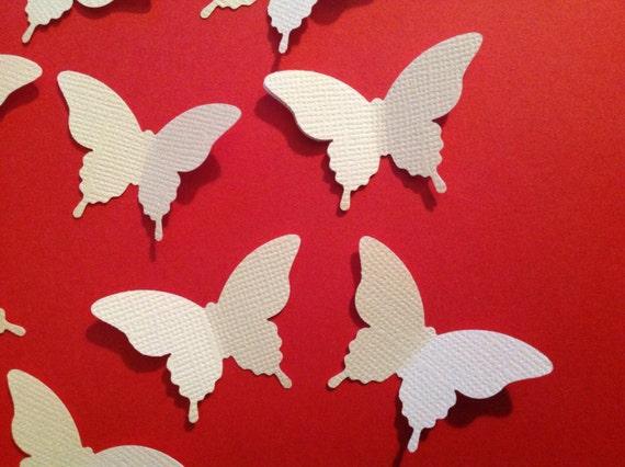 100 pc paper white butterflies table decorations by lance79 for White paper butterflies