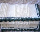 RESERVED for Helen - Crocheted Afghan Irish Knit Design LAP Size Custom Order Only
