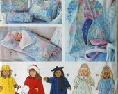 """18"""" Doll Sleeping Bag and Garment Bag Sewing Pattern UNCUT Simplicity 9833 nightgown robe"""