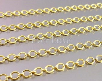 1 meter large and small link chains, 16k gold plated brass chains, designer style chains, necklace chains, jewelry B088-BG