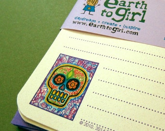 Sugar Skull Stationery Set