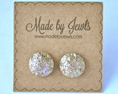 Faux Druzy Stone Earrings - Rose Gold - Buy 3, get 1 FREE