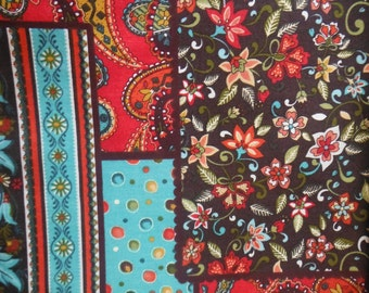 Paisley Mix Fabric--Vintage Style--HARD Find -- 40-70% off Patterns n Books SALE