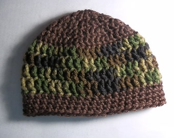Brown and Camo Beenie
