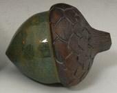 Handmade Decorative Ceramic Stoneware Acorns Long and Fat Acorns Fall Rustic Earthy Decor Home Decorations for Fall Ceramic Acorns