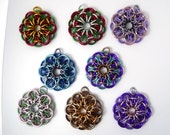CUSTOM COLORS - Celtic Star Chainmaille Pendant