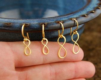 Gold infinity earrings, infinity symbol, hammered earrings, gold infinity, eternity earrings, tiny gold earrings, simple, casual