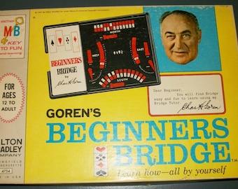 Vintage Goren's Beginners Bridge Teach Yourself Bridge Game