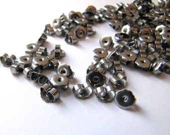 Nickel Free 100 pcs Surgical Stainless Steel Earring Backs Clutches Ear Nuts Hypoallergenic