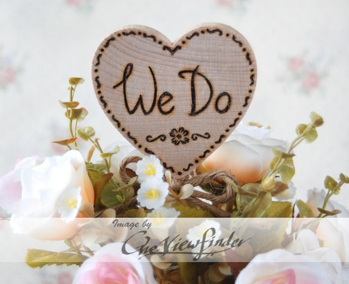 Customize Rustic Wedding Cake Topper We Do Hitched Rustic