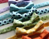 Little Guy Bow Tie  - TONAL POLKA DOT Collection - (All Sizes) - Baby Boy Toddler - Custom Order - Wedding - Photo Prop
