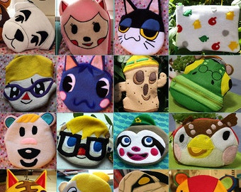 Animal Crossing Nintendo DS 3DS or 3DSXL pouch custom made zipper pouch
