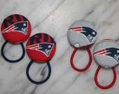 New England Patriots  pony tail holders make adorbale party favors, gifts, everyday hair accessories