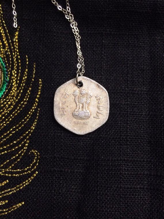 Coin Necklace Indian Vintage Travel Adventure by MinouBazaar
