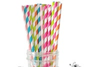 Sweet Shoppe Straws, Candy Shoppe Straws, Candy Buffet Straws, Aqua Straws, Pink Straws, Orange Straws, Lime Green Straws, Pack of 25 Straws
