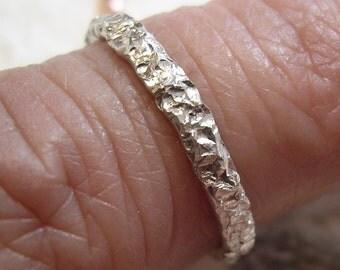 One 12 Gauge Textured Stacker Ring