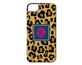 Monogrammed iPhone and Samsung Galaxy Case - LEOPARD COLLECTION - By A Blissful Nest