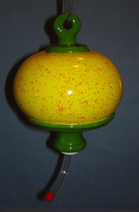 Ceramic Hummingbird Feeder Round Bottle Style Neon by ...