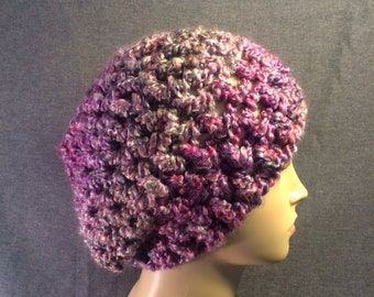 Purple Slouch Hat Free Shipping