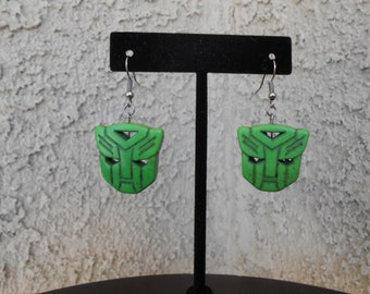 Transformers Autobot Green Howlite Earrings