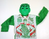 Rare Vintage Jolly Green Giant Child Size 10 Halloween Costume Mask