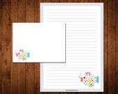 Letter Writing Stationery Set - somethin' fishy
