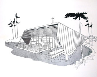 1959 mid-century Leisure-Time Homarina Cabins Plan • Douglas Fir Plywood Association • No.11