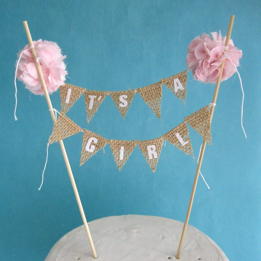 cake bunting burlap baby shower baby banner