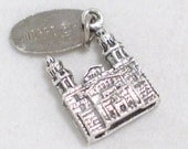 3-D Morro Bay California building travel theme 925 sterling silver bracelet charm or pendant