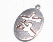Chinese character Love / friendship theme 925 sterling silver bracelet charm or pendant