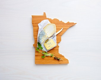 Personalized Cutting Board Engraved Cutting Board Minnesota State Cutting Board  Cutting Board