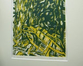 Landscape in Shadows - Original Hand Cut Lino Print - Limited Edition of 5 or 6