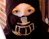 Inspired by Star Wars Darth Vader crochet hat and face mask Halloween  FREE SHIPPING